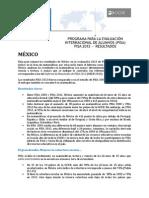 Resultados PISA México 2012