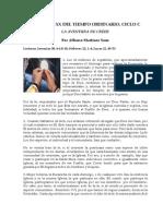 15.- DOMINGO XX DEL TIEMPO ORDINARIO C. HOMILÍA