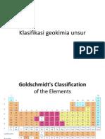 Klasifikasi geokimia unsur