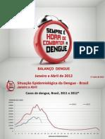 Balanço Dengue, 2012