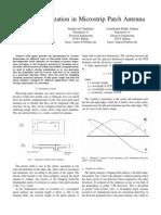 Circular polarization in Microstrip patch antenna