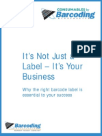 Why the right barcode label is 