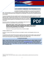 INSTRUCTIONS FOR THE 2013 DIVERSITY IMMIGRANT VISA PROGRAM (DV-2013)