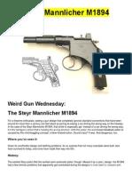 The Steyr Mannlicher M1894