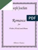Joseph Joachim Romance for Violin Viola and Piano 193780 1