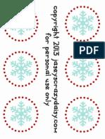 Advent Snowflake Card Printable Tags