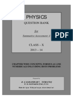 Class x Physics Question Bank for Sa-i 2013-14