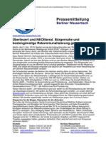 Pressemitteilung vom Berliner Wassertisch vom  3. Dezember 2013
