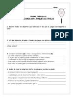 Ficha Raquetas y Palas