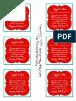 Apple Cider Gift Tags Printable