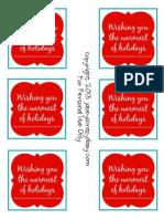 Warm Holiday Gift Tags Printable