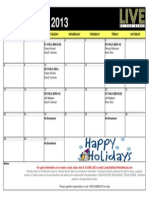 2013 December Live at the Bike Show and Commentator Schedule