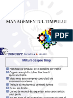 Managementul Timpului Time Management