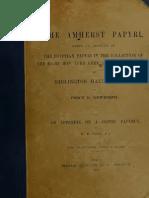 NEWBERRY, P E - The Amherst Papyri