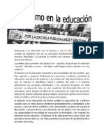 El laicismo en la educación