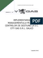 Implementarea Managementului Pe Baza Centrelor de Gestiune La Sc City Gas Srl Galati2222