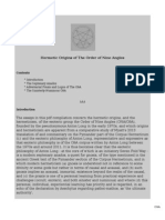 Hermetic Origins of The Order of Nine Angles
