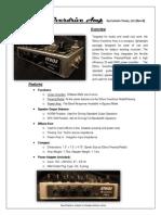 Ethos Overdrive Amp Spec Sheet RevB