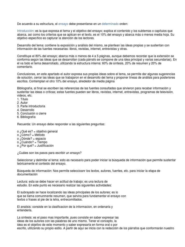 Amazing Conclusion De Resumen Y Sintesis Crest Example Resume