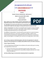 BBA101 – Comunication Skills