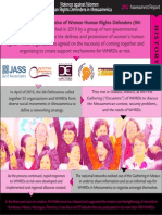 Infographics 2012 ASSESSMENT REPORT. Violence Against WHRDs in Mesaomerica