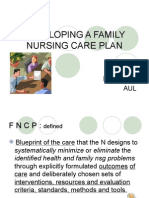19175765 Developing a Family Nursing Care Plan