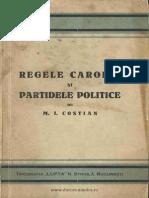 M.I. Costian Regele Carol II şi partidele politice