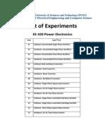 Power Electronics - Lab Manual