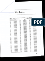 Probability Tables