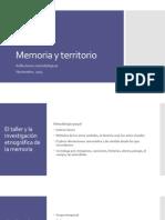 Memoria y territorio - Reflexiones.pptx