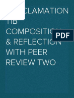 Proclamation TIB Composition & Reflection With Peer Review Two