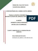 Apuntes de filosofía del derecho para exámen segundo parcial.