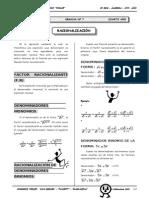 II BIM - 4to. Año - ALG - Guía 7 - Racionalización