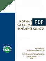 Norma Tecnica Expediente Clinico BVSP