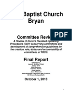 Committee Review Working Group Report