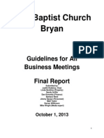 Business Meeting Guideline Report