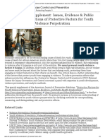 CDC - CDC Special Supplement_ Issues, Evidence & Public Health Implications of Protective Factors for Youth Violence Perpetration - Publications - Violence Prevention - Injury Center