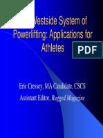 Westside for Athletes Eric Cressey