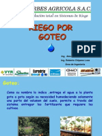 Riego Por Goteo (Orbes Agricola)