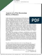 J. Kregel. Aspect of a Post Keynesian Theory of Finance