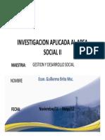 Investigacion Aplicada Al Area Social-II