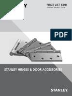 Stanley Hinges and Door Accessories 2014 Price Book