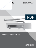 Stanley Door Closers 2014 Price Book