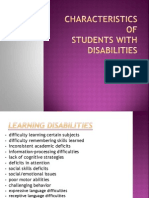 characteristics of disabilities