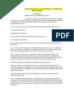 Ley de Ejercicio Profesional de Las Enfermeras y Enfermeros Del Ecuador