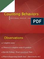 counting behavior