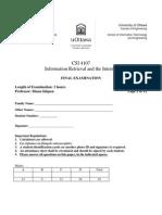 Final CSI 4107 - 2009 Solution