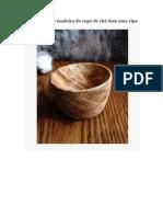 Fácil caseiro de madeira do copo de chá Sem uma ripa