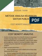 Metode Analisa Kelayakan Sektor Publik
