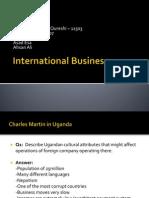 International Business (Case Studies)